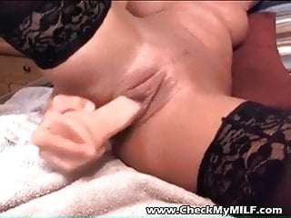 Check My cougar slender wifey in ebony opaque tights and fuck stick