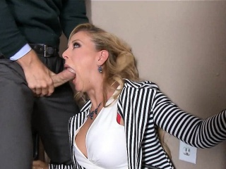 Blonde MILF in Stockings gets Fucked on Desk