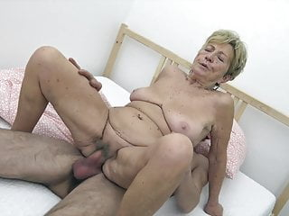 Youthful man humps grannie