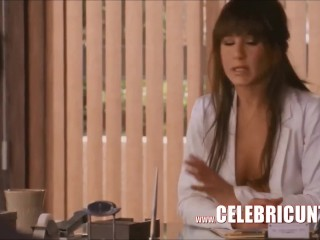 Hot comet cosset Jennifer Aniston Downblouse Ultimate bit of good luck