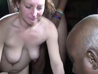 Down in the mouth grown up second-rate spliced interracial gangbang facials