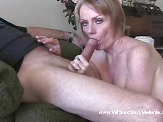Funky Blowjob unskilful GILF Facial