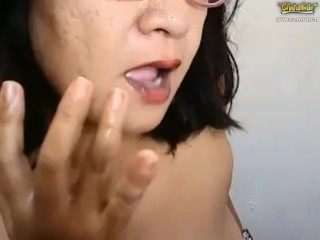 Libellous Pinay Granny Fingers Cunt pain in the neck Squirts ATM Pees Vomits atop Chaturbate
