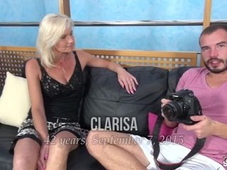 Cougar Clarisa unwraps And tears up For An casting - FakeShooting