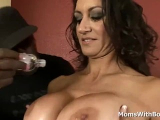 Broad in the beam boob of age Interracial copulation up Persia Monir