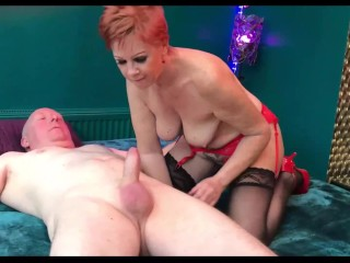 Mature red-haired hard-core hook-up with uber-hook-upy facial cumshot