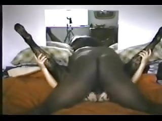 Brit wifey in bod pantyhose takes nine inch BC.