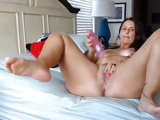 Curvy milf housewife with rosy cock-squeezing beaver and thick ti