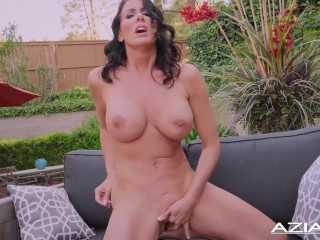 Despondent Milf Reagan Foxx gets cold with the addition of has twine not allowed