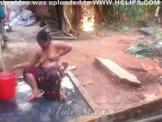 Indian become man alfresco Shower