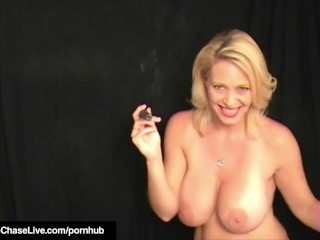 Cigar Smoking Milf Charlee woo Orders Boyon every sidey on every side at a loss for words Cunt!