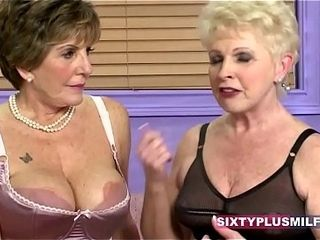 Bigtitted grandmothers romped rock-hard