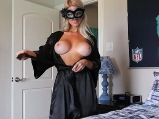Hooded cougar Is prepped For web cam display