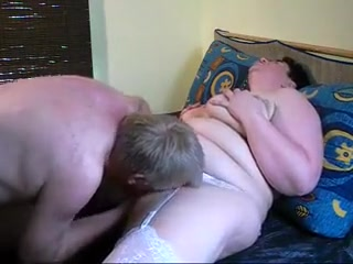 Thick mature nymph in milky stocking gets her peach ate a
