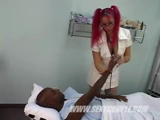 Big black cock hoe Nurse handjob