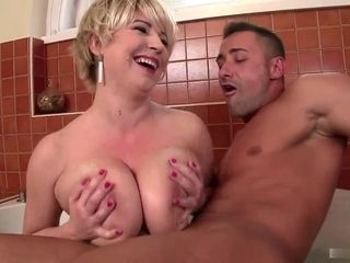 The man Dutch Housewife Gives Titjob