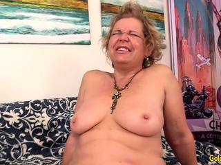 A plowing Machine Makes super-naughty granny Kelly Leigh ejaculation