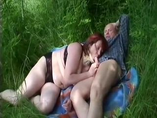 Horny Homemade record with BBW, Outdoor scenes