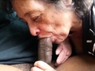Horny Granny Sucking a Big Cock from the web